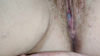 Extreme close up with creampie ending