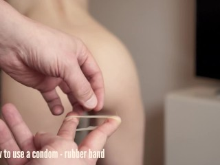 How to use a condom – rubber band | Comedy Porn | HTP