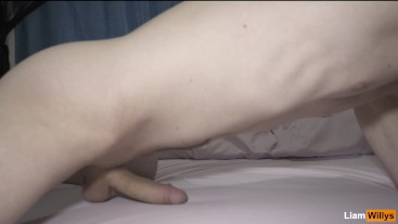 Intense Orgasms Guy Moaning While Humping Bed - Cum Handsfree