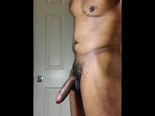 Dude, Some Cock Hard  guy Jacks off Hard Dick Spot Lit BBC Wanking