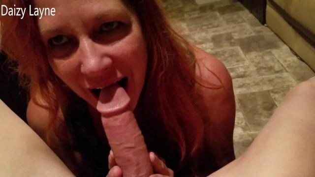 Sex at biker rallys - Buddys red head wife sucks swallows my hard cock at biker rally