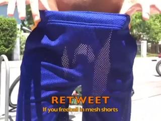 I love freeballing in mesh shorts that i...