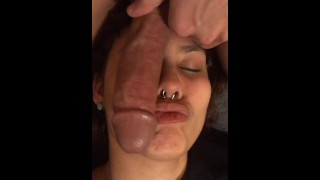 My face is his personal cock table