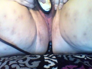 Making my pussy juicy with my butt plug...
