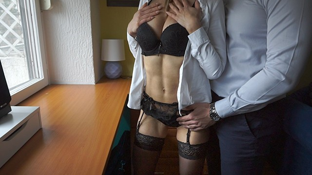 Boss female fucking - Secretary in stockings fucked by her boss on fist day at work i lacyluxxx