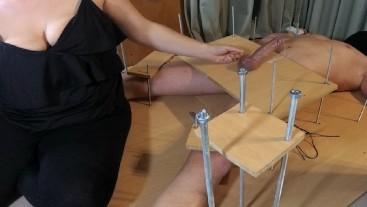 Amateur Femdom Handjob CFNM Torture.Feet Tickling Torture.Ruined Orgasm