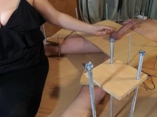Handjob cfnm torture feet tickling orgasm...