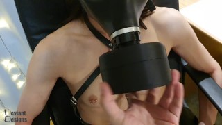 Sniffer Box - Making K sniff her own dirty pants