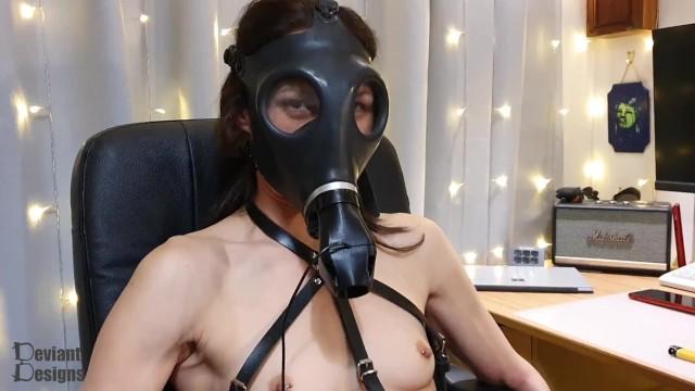 Vaginal hair design - Gasmask blower - gas mask toy