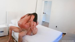 Johnny Sins - Busty Teen Oils Up Body and Fucks Step Dad