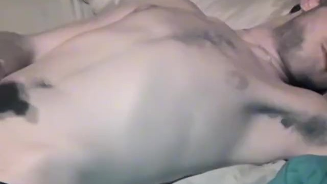 Twinks stroking Young man strokes his big dick after sucking another gay off