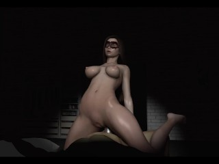 Kate The Thief with beautiful legs take first anal in her muscular ass. ep2