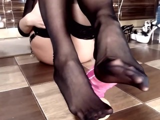 Crazy bitch hotwife pantyhose...