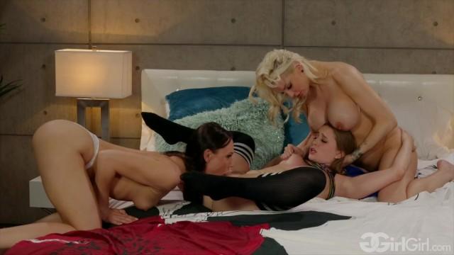 GirlGirl - The Lesbian Next Door - Kenzie Taylor, Aidra Fox, Laney Grey