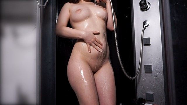 Gas after sex - Teen with perfect body takes shower after hot sex