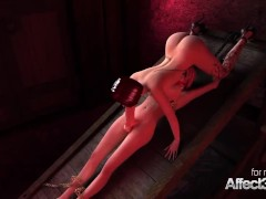 Big tits vampire gives a blowjob to a futanari babe in a 3d animation
