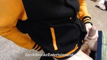 Twink Boy Jacob Cums In Daddies Office! Slow Motion Boy Cumming!
