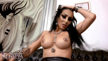 Mistress Kennya: Tits worship and tease for chastity slave