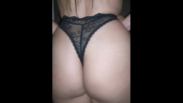 Sexy lingerie brazil Fucking in quarantine with sexy lace thong and black lingerie