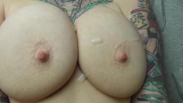 Cumshot On The Tits