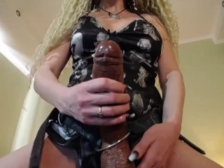 Strapon slut trained how to suck (prerecorded cam session)