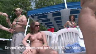 Innocent Teens Become Public Pussy Eating Party Sluts