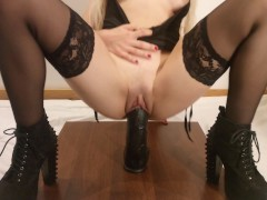 Qos Teenager Step Sister-in-law Splashing On Bbc But The Cheating Can't Watch! - 4k