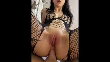 Using Spit As Lube For Anal Riding POV