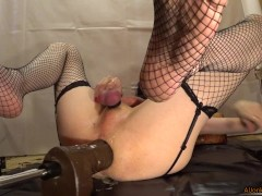 Close up, fucking yourself and using a vacuum-pump, part 3