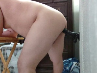 Dildo in bisexual ass...