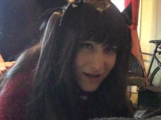 Giving Mr a Blowjob and getting fucked in my Rin Tohsaka Cosplay ^_^