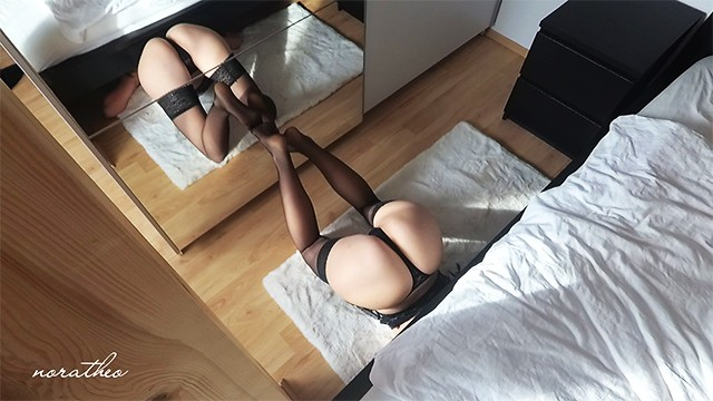 Teem lingerie - She got stucked and fucked while cleaning in sexy lingerie