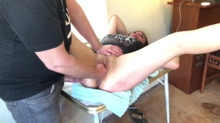 Pregnant Couple Fisting and Rough Fucking Our Midwife