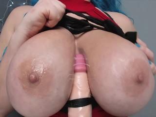Black stockings titjob...