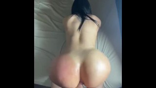 Thick Latina gets her ass stuffed by hard cock