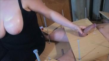 Amateur Femdom Feet Tickling.Handjob Ruined Orgasm Post Orgasm Torture