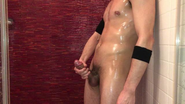 Guy on guy handjob - Sexy and fit guy masturbating and moaning in shower. coronavirus quarantine