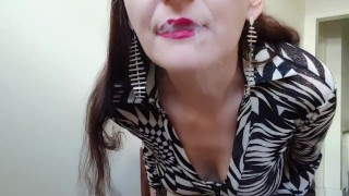 INHALE 19 smoking fetish video by Gypsy Dolores a wild cougar of Montreal