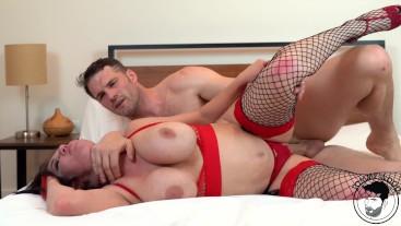 Sex in mirror room w/ huge tits MILF- squirting, rimjob - Coralyn Jewel