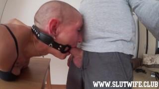 Submissive Gets Bondage, Face Slapping, Sloppy Deepthroat And Pussy Banging