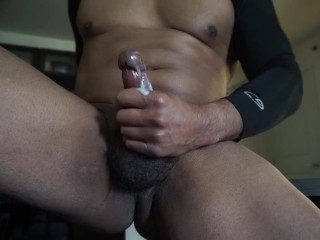 CUMSHOT: Full video jacking off and talking dirty on the counter