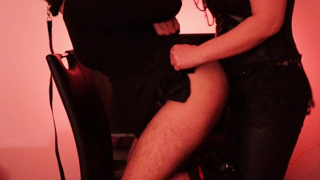 Fuck miss Sissy slave in chastity fucked by mistress