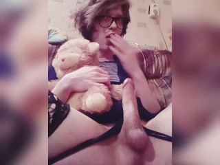 Hattabi4ik Crossdresser Home Fapping Sweet Big Dick (Homemade)