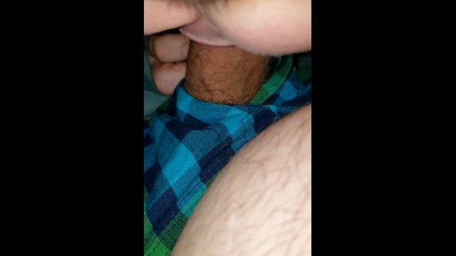 Stuck in the house so she sucks my dick 1