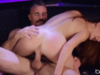 Babes redhead babe lacy lennon puts sexy gold...