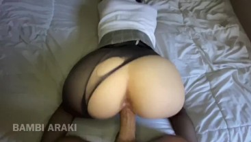 Step Sister Home from Private School pantyhose rough fuck