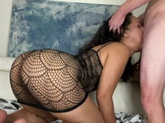 Submissive Slut Gets Throat & Pussy Abused By Dominant Bull! Shantel Dee