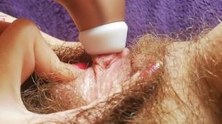 1 hour + Hairy pussy fetish video compilation huge bush big clit amateur