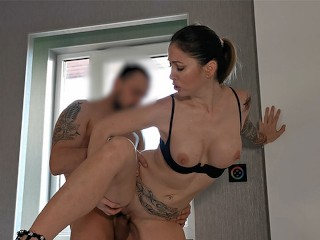 My Naughty Girlfriend Loves To Have Sex In The Front Of The Window