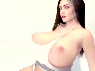 Huge Boobs BBW Teen Wiggles her Heavy Tits – Breast expansion